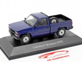 Chevrolet Silverado Bouwjaar 1997 blauw 1:43 Altaya