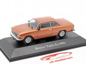 Renault Torino Zx Bouwjaar 1981 bruin metalen 1:43 Altaya