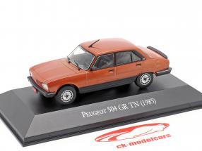 Peugeot 504 GR TN Ano de construção 1985 cobre metálico 1:43 Altaya
