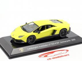 Lamborghini Aventador LP 720-4 50e Verjaardag 2013 geel 1:43 Altaya