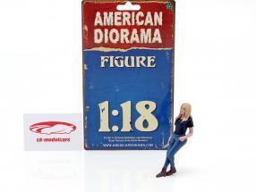 Car Girl Rachel figur 1:18 American Diorama
