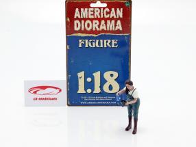 Car Girl Kylie figure 1:18 American Diorama
