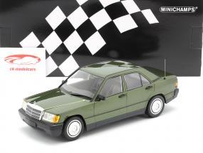 Mercedes-Benz 190E (W201) Byggeår 1982 grøn metallisk 1:18 Minichamps