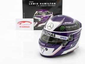 Lewis Hamilton #44 Mercedes-AMG Petronas formel 1 2020 hjelm 1:2