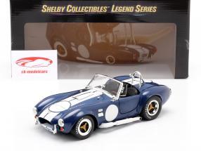 Shelby Cobra 427 S/C Byggeår 1965 blå / hvid 1:18 ShelbyCollectibles