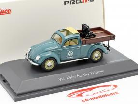 Volkswagen VW Käfer Beutler-Pritsche blau 1:43 Schuco