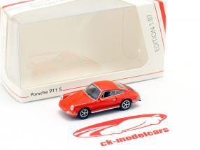 Porsche 911 S blutorange 1:87 Schuco