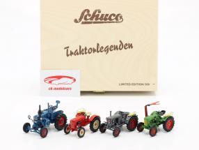 4-Car Set Leggende sui trattori 1:43 Schuco