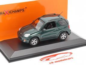 Toyota RAV4 Byggeår 2000 mørkegrøn metallisk 1:43 Minichamps