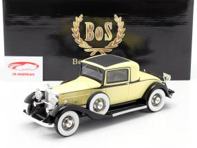 Packard 902 Standard Eight Coupe 1932 gul / sort 1:18 BoS-Models / 2nd valg