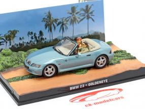 BMW Z3 James Bond Movie Car Goldeneye light blue metallic 1:43 Ixo