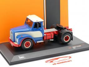 Scania 110 Super Camion Anno di costruzione 1953 blu / bianca / rosso 1:43 Ixo
