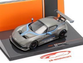 Aston Martin Vulcan Byggeår 2015 måtte Grå metallisk 1:43 Ixo