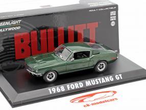 Ford Mustang GT Steve McQueen fra den film Bullitt 1968 grøn metallisk 1:43 Greenlight