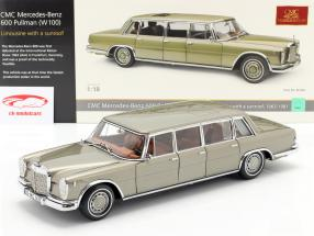 Mercedes-Benz Pullman (W 100) Limousine と サンルーフ ミンク グレー 1:18 CMC