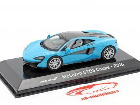 McLaren 570S Coupe Ano de construção 2016 azul metálico / Preto 1:43 Altaya