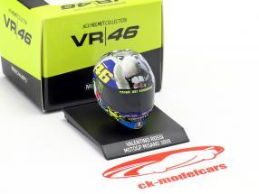 Valentino Rossi Sieger Misano MotoGP Weltmeister 2009 AGV Helm 1:10 Minichamps
