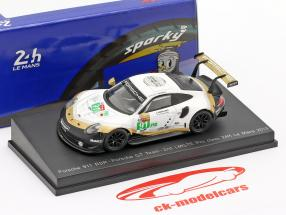 Porsche 911 RSR GTE #91 2º LMGTE Pro 24h LeMans 2019 Porsche GT Team 1:64 Spark