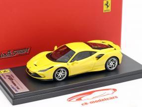 Ferrari F8 Tributo Ano de construção 2019 amarelo metálico 1:43 LookSmart