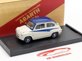 Fiat 600 Derivazione Abarth 750 Año de construcción 1956 Blanco / azul 1:43 Brumm