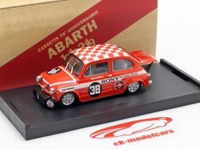 Fiat Abarth 1000 #38 Gagnant Zandvoort Trophy 1969 Dijkstra 1:43 Brumm