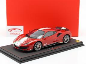 Ferrari 488 Pista Piloti year 2018 red 1:18 BBR