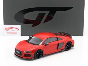 Audi R8 ABT Año de construcción 2019 escarchado rojo 1:18 GT-SPIRIT
