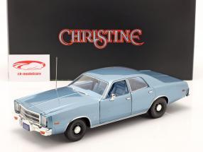 Plymouth Fury Película Christine 1983 Detective Rudolph Junkins azul 1:18 Greenlight