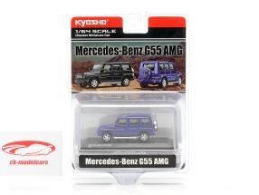 Mercedes-Benz G55 AMG blauw 1:64 Kyosho