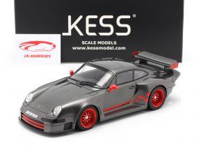 Porsche 911 (993) GT1 Almeras gris métallique 1:18 KESS