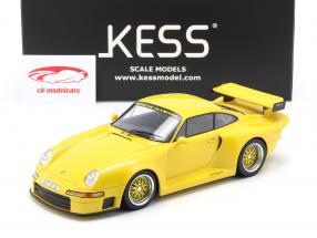 Porsche 911 (993) GT1 Almeras amarillo 1:18 KESS