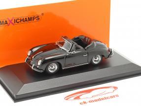 Porsche 356 A Cabriolet ano 1956 Preto 1:43 Minichamps