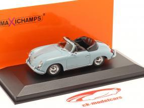 Porsche 356 A Cabriolet year 1956 blue 1:43 Minichamps