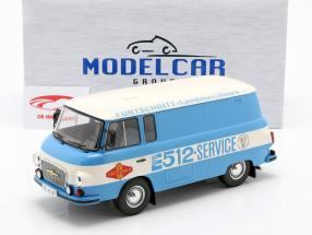 Barkas B 1000 Kastenwagen Fortschritt-Service blu / bianca 1:18 Model Car Group