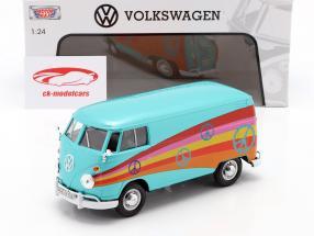 Volkswagen VW Type 2 (T1) Delivery Van turchese metallico 1:24 MotorMax