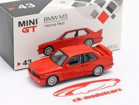 BMW M3 (E30) LHD henna red 1:64 TrueScale