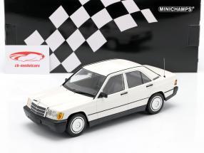Mercedes-Benz 190E (201) år 1982 hvid 1:18 Minichamps