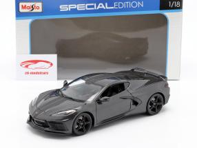 Chevrolet Corvette C8 Stingray year 2020 grey 1:18 Maisto
