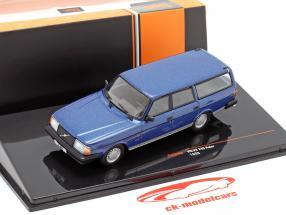 Volvo 240 Polar Baujahr 1988 blau metallic 1:43 Ixo