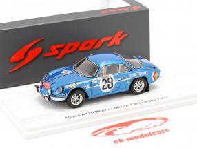 Alpine A110 #28 winner Rallye Monte Carlo 1971 Andersson, Stone 1:43 Spark
