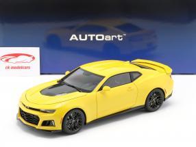 Chevrolet Camaro ZL1 Anno di costruzione 2017 luminosa giallo 1:18 AUTOart