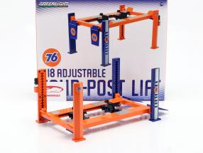 Regolabile quattro post Piattaforma elevatrice Union 76 blu / arancia 1:18 Greenlight