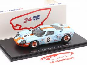 Ford GT40 Gulf #6 ganador 24h LeMans 1969 Ickx, Oliver 1:43 Spark