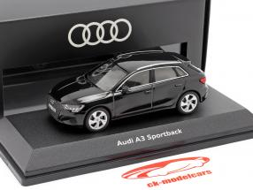 Audi A3 Sportback Año de construcción 2020 mito negro 1:43 Audi