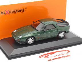 Porsche 928 S år 1979 grøn metallisk 1:43 Minichamps