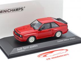 Audi Sport quattro Byggeår 1984 rød 1:43 Minichamps