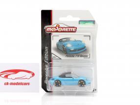 Porsche 718 Boxster light blue 1:64 Majorette