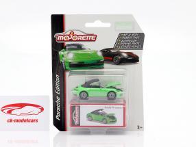 Porsche 911 Carrera S Cabriolet groen 1:64 Majorette