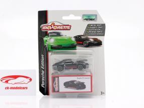 Porsche 911 Carrera S Coupe nero / rosso 1:64 Majorette