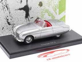 Triumph TR-X Byggeår 1950 sølvgrå metallisk 1:43 AutoCult